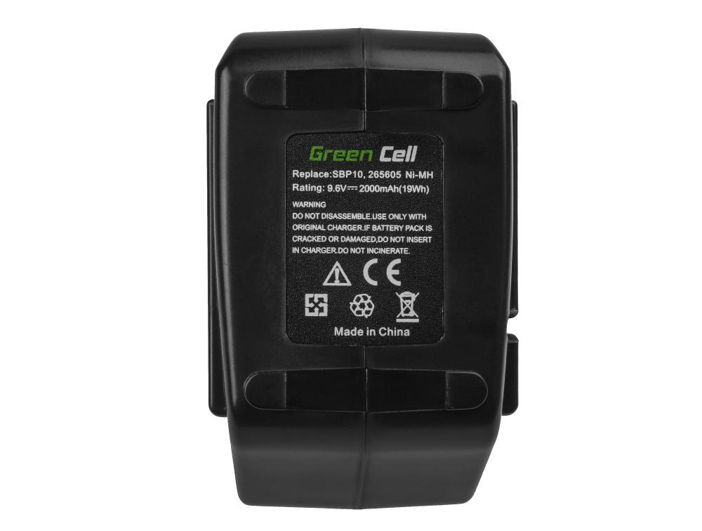 Batteri (2Ah 9.6V) SBP 10 SFB 105 för Hilti BD 2000 SB 10 SF 100 SF 100-A