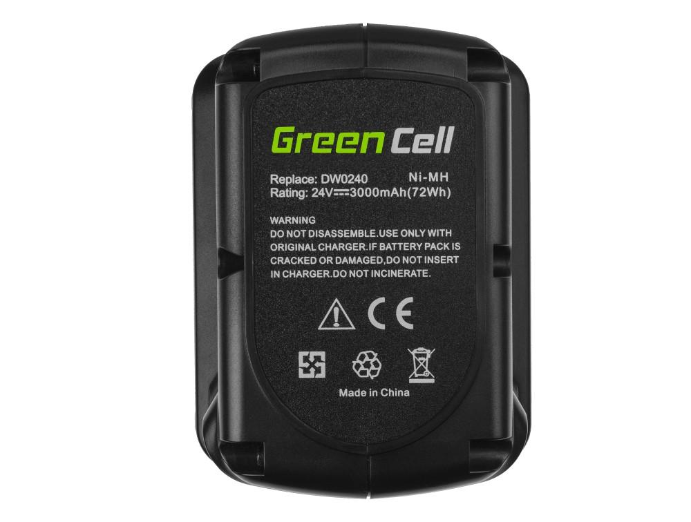 Batteri (3Ah 24V) DE0240 DE0241 DE0243 för DeWalt DC222KA DC223KA DC224KA DW006 DW008 DW017