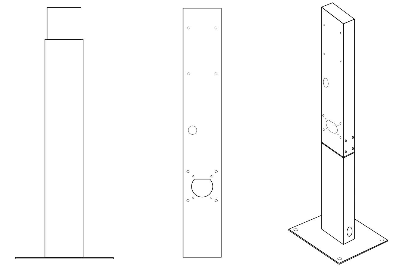 GC EV Stolpe för montering av laddbox