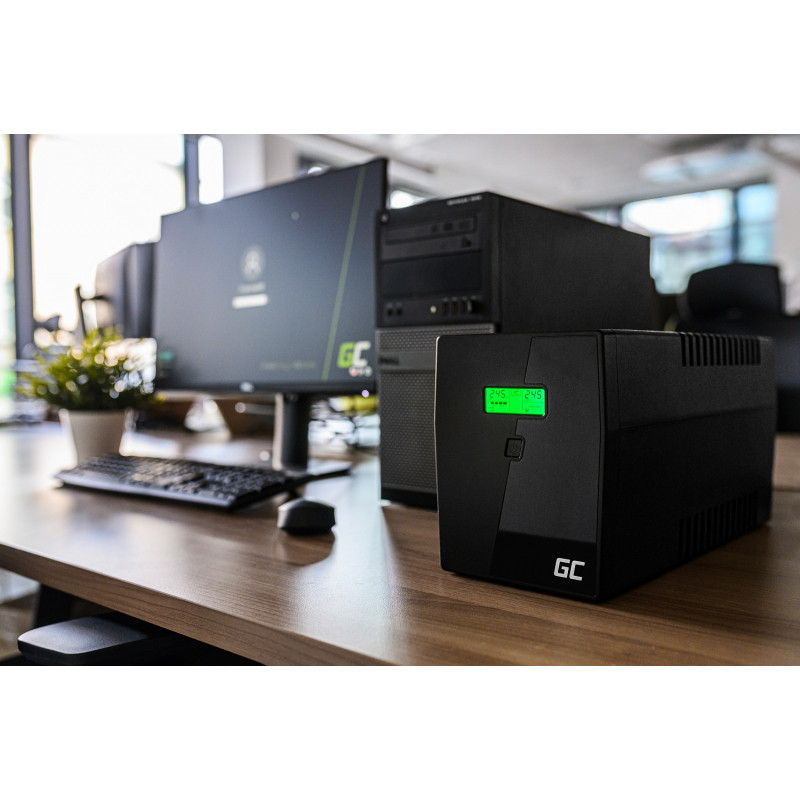 UPS UPS Uninterruptible Power Supply 600VA 360W with LCD Display