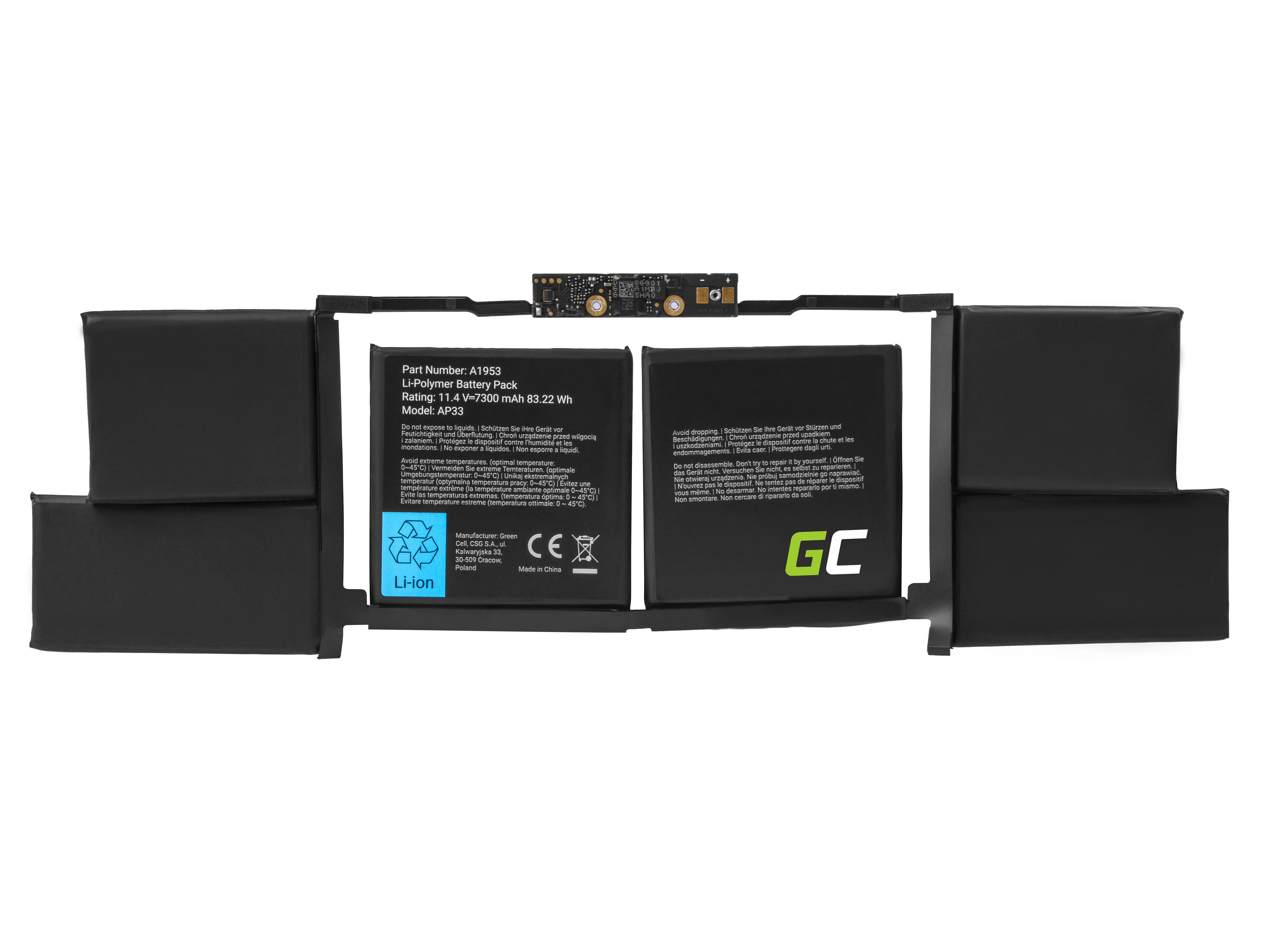 A1953 battery for Apple Macbook Pro 15 A1990 (2018 and 2019) laptops