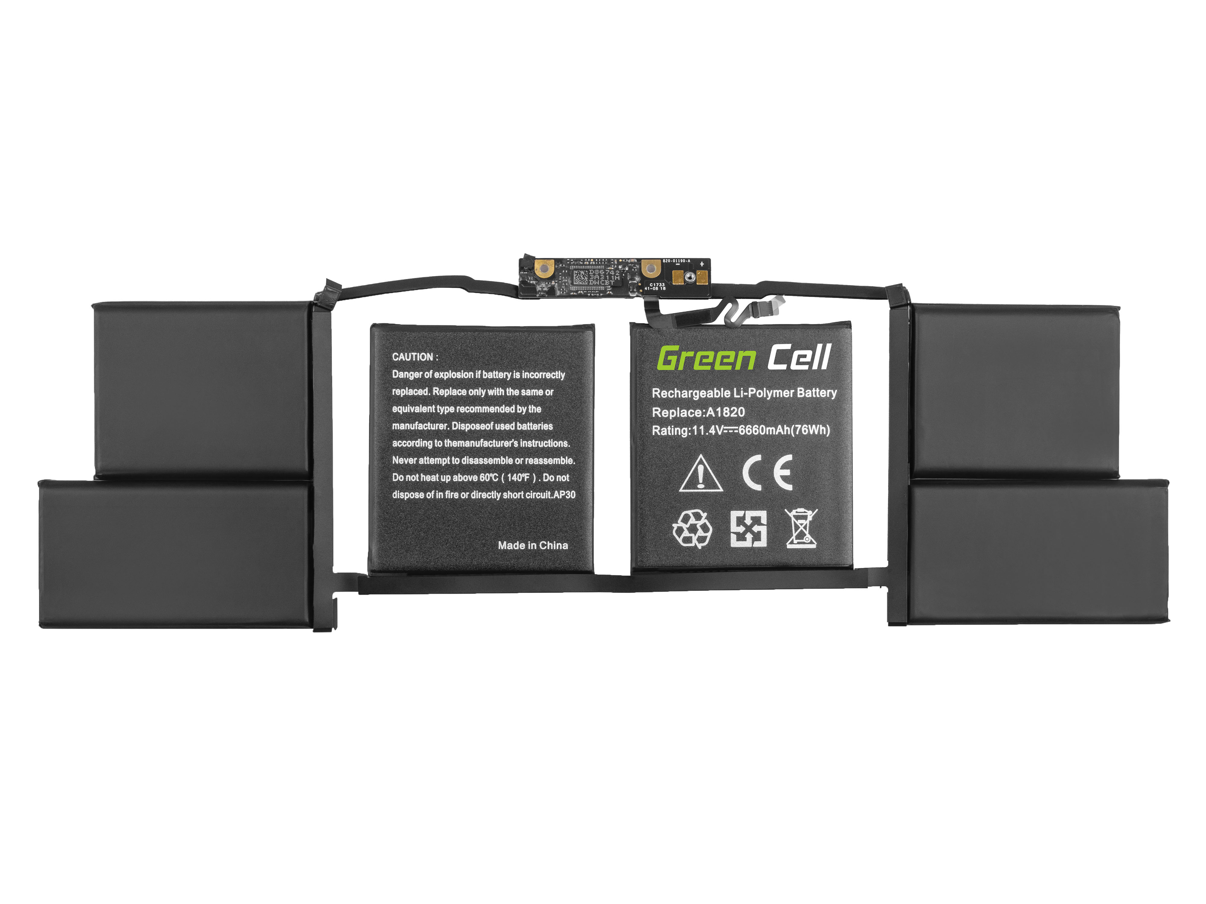 A1820 battery for Apple MacBook Pro 15 A1707 (2016, 2017)