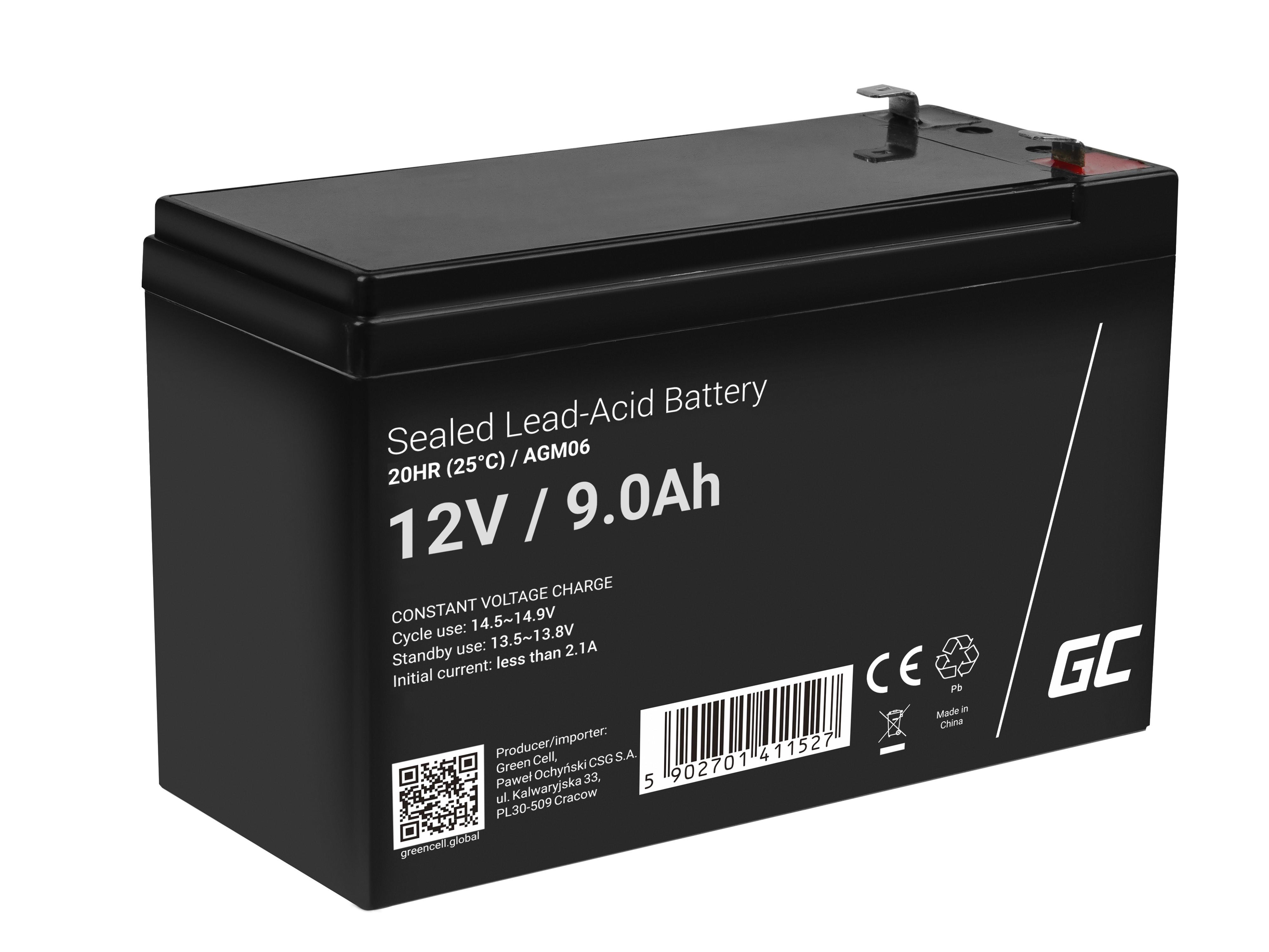 Green Cell agm batteri 12V 9Ah